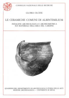 Le ceramiche comuni di Albintimilium, copertina.