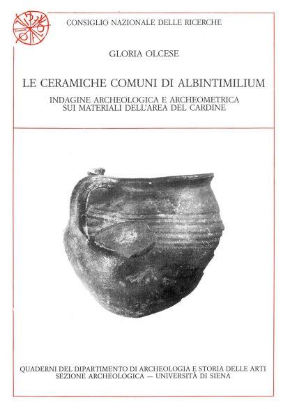 Le ceramiche comuni di Albintimilium, copertina.