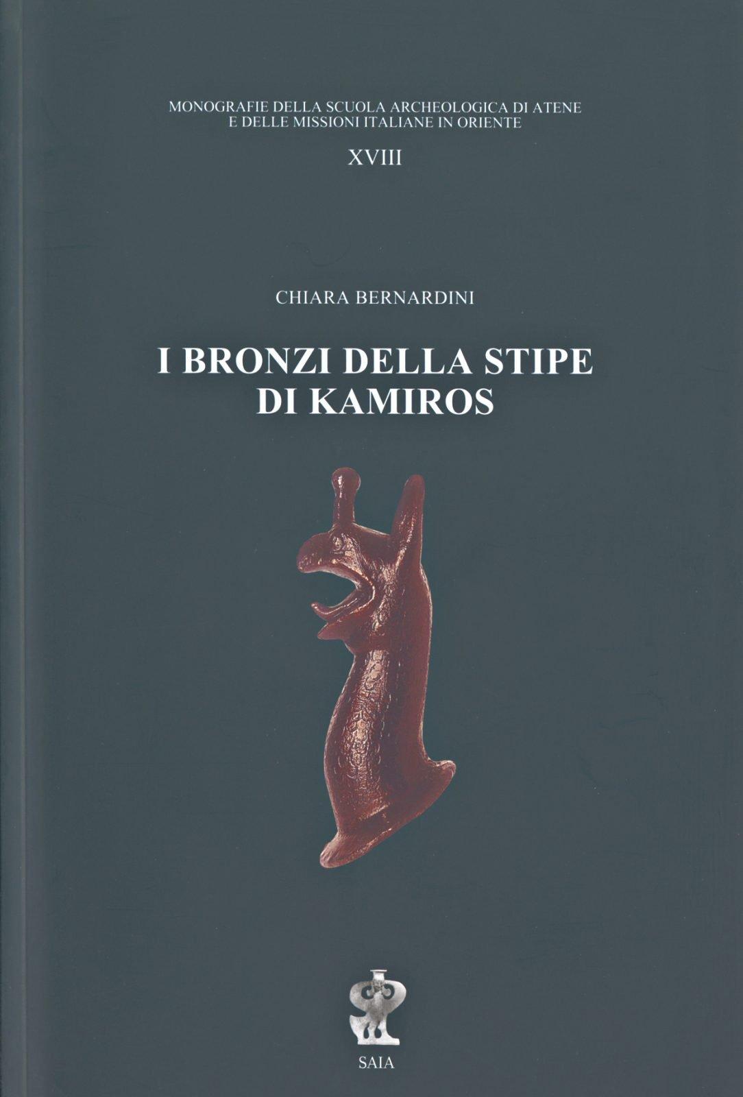 I bronzi della stipe di Kamiros, copertina.