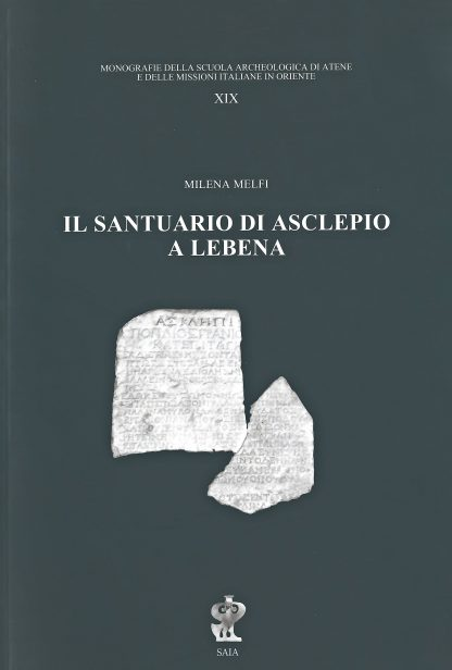Il santuario di Asclepio a Lebena, copertina.