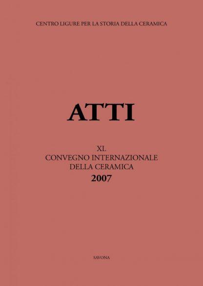 Atti Albisola XL, copertina.