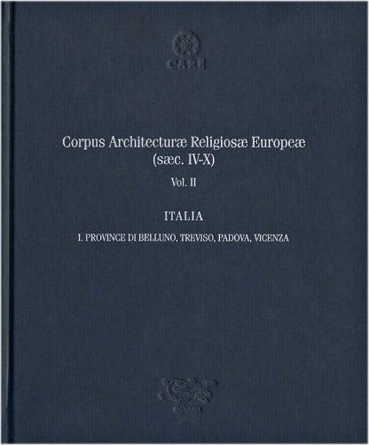 Corpus Architecturae Religiosae Europeae, copertina