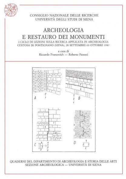 Archeologia e restauro dei monumenti, copertina.