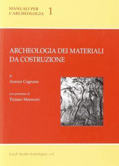 Archeologia dei materiali da costruzione, copertina.