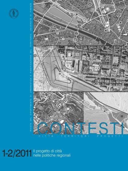 Contesti 1-2/2011, Il progetto di città nelle politiche regionali, copertina.