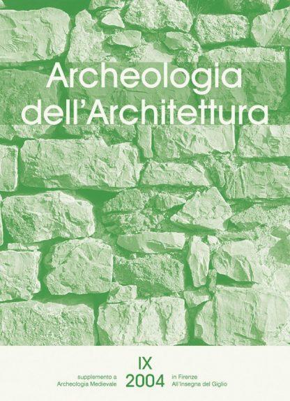 Archeologia dell'Architettura 9, copertina