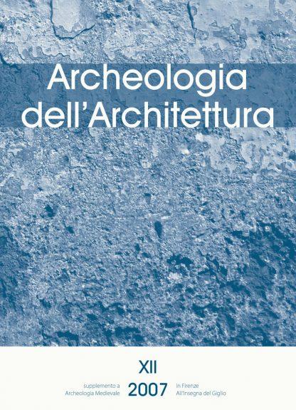 Archeologia dell'Architettura 12, copertina
