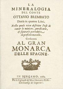 La mineralogia del conte Ottavio Brembato, copertina.