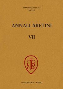 Annali Aretini, VII, 1999, copertina.
