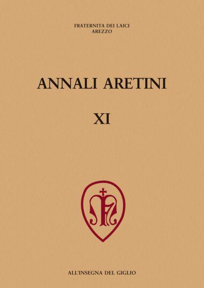 Annali Aretini, XI, 2003, copertina.