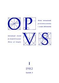 Opus, I,2, 1982, copertina.