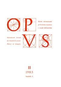 Opus, II,2, 1983, copertina.