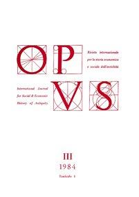 Opus, III,1, 1984, copertina.