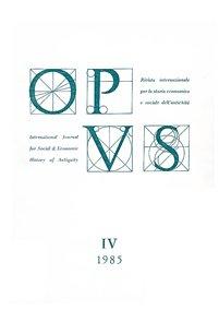 Opus, IV, 1985, copertina.