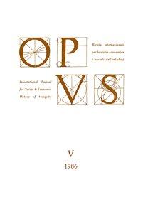 Opus, V, 1986, copertina.