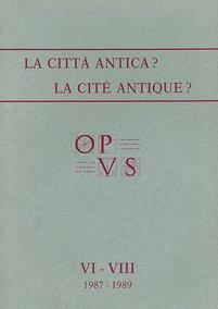 Opus, VI-VIII, 1987-1989, copertina.