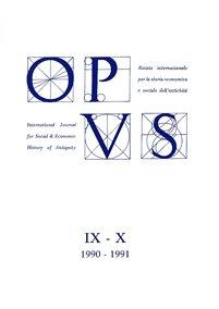 Opus, IX-X, 1990-1991, copertina.