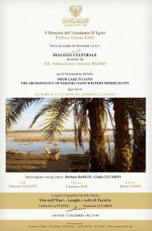 From Lake to Sand, presentazione Accademia d'Egitto.
