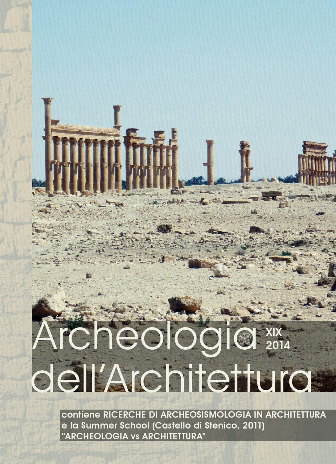 Archeologia dell'Architettura, XIX, 2014, copertina.