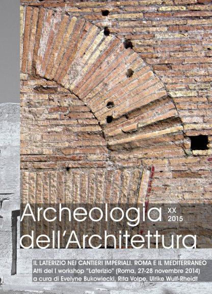 Archeologia dell'Architettura, 20, 2015, copertina.