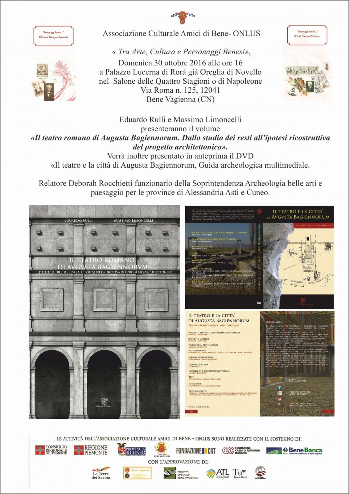 Augusta Bagiennorum, presentazione del libro.