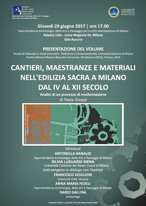 Cantieri, maestranze, presentazione Milano, locandina.