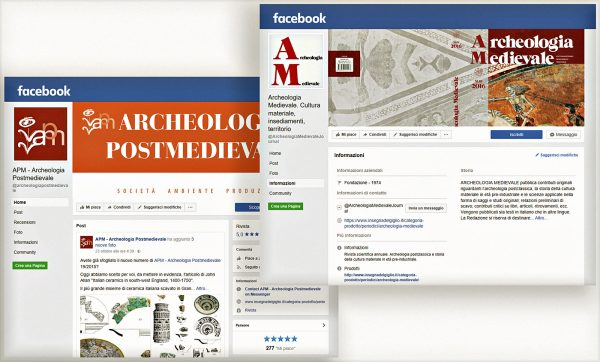 Archeologia Medievale e Archeologia Postmedievale - pagine facebook