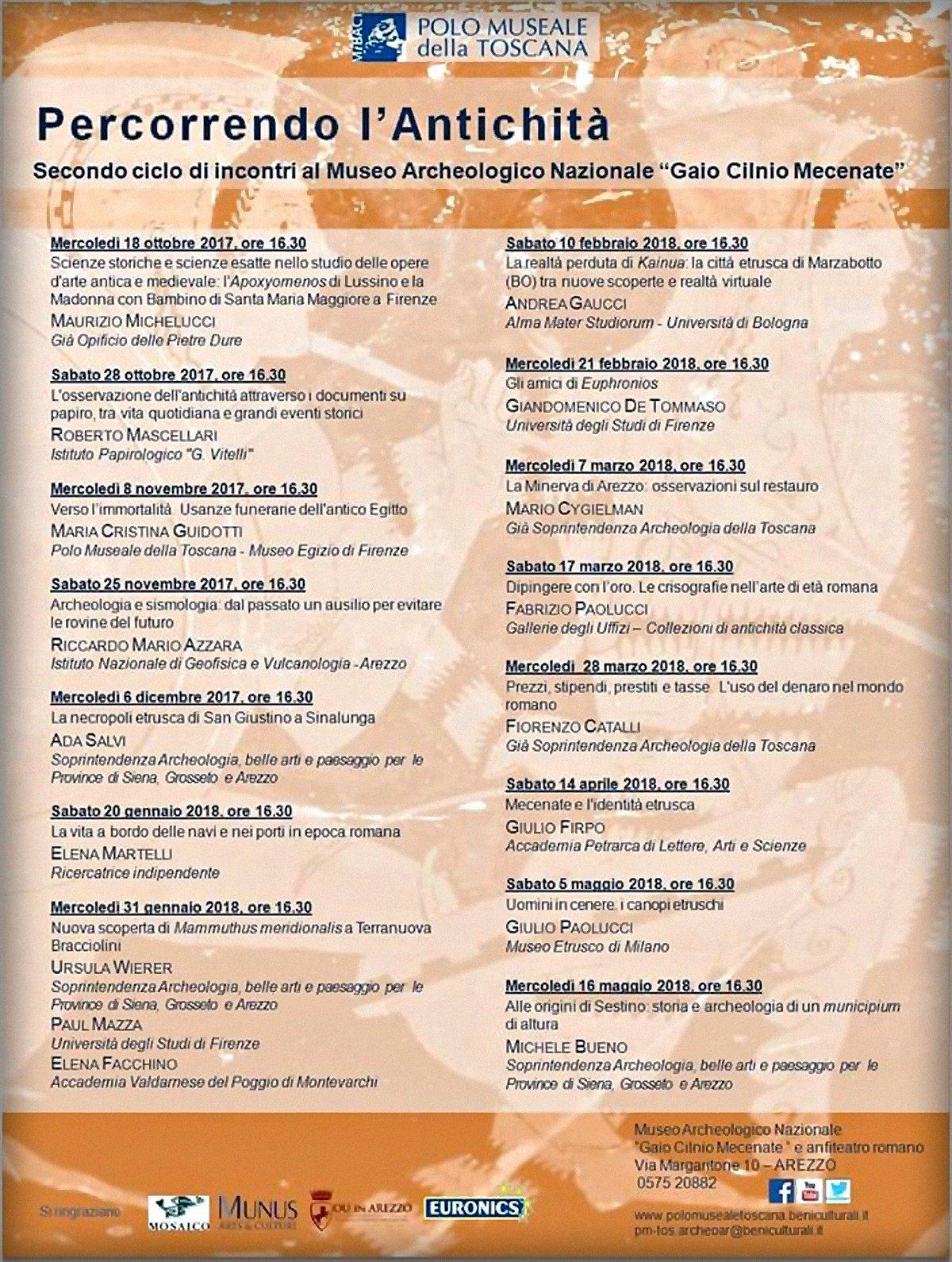 Programma conferenze, Arezzo.