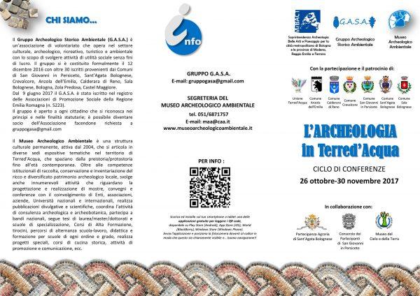 Volantino, conferenze autunno GASA, 2017.