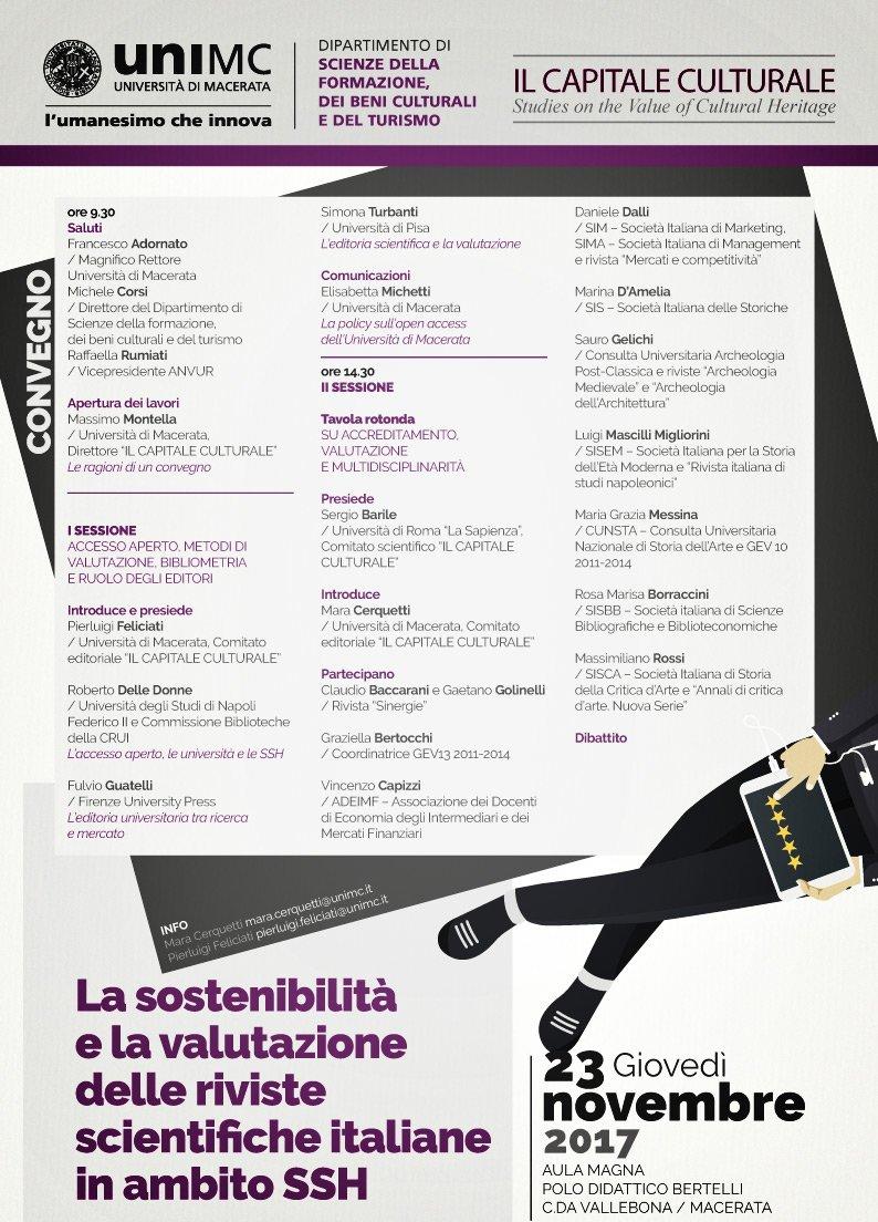 Locandina, convegno Macerata, editoria.