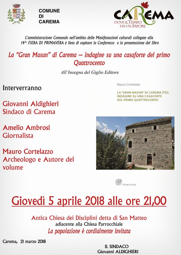 Presentazione libro e Conferenza GRAN MASUN.