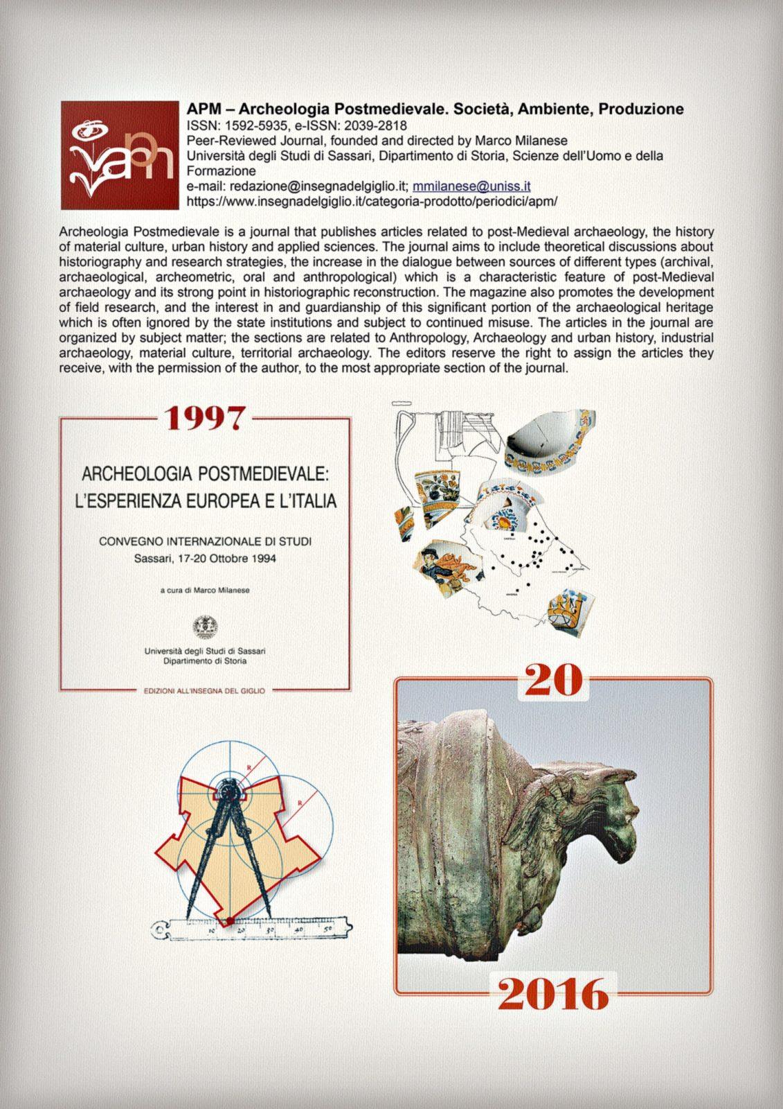 APM, Archeoloiga Postmedievale, 20 anni della rivista.