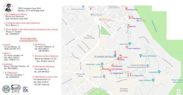 SAMI 2018 - Matera - Mappa luoghi