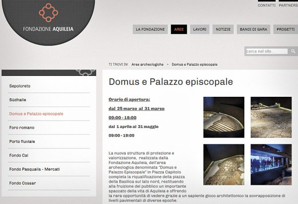 Aquileia (Complesso del Battistero-Aula sud e Domus-Palazzo Episcopale)
