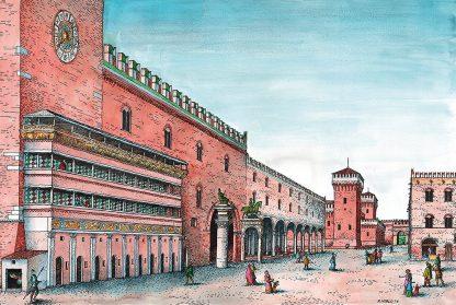 palazzo di corte e loggia grande
