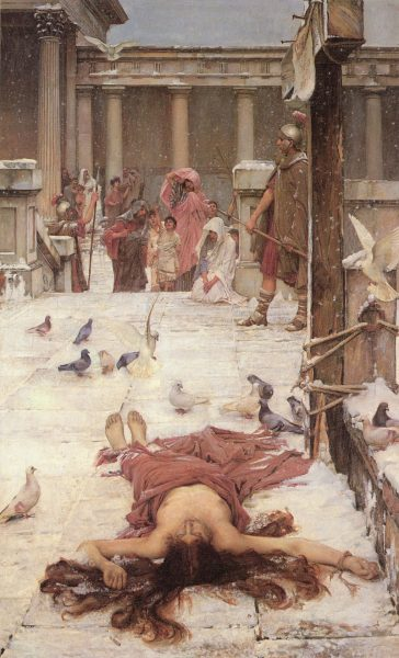 Il martirio di San'Eulalia in un dipinto di John William Waterhouse (1885) alla Tate Britain.
