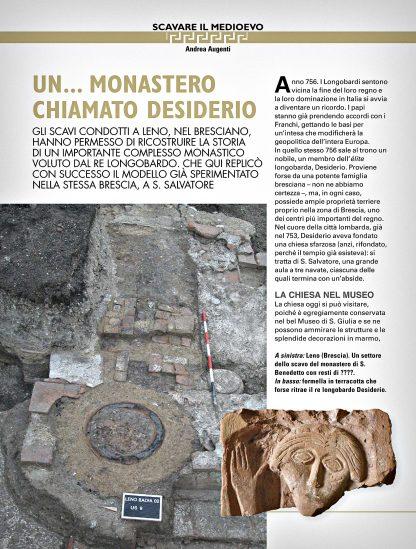 Archeo - recensione Andrea Augenti - Il monastero di San Benedetto di Leno.