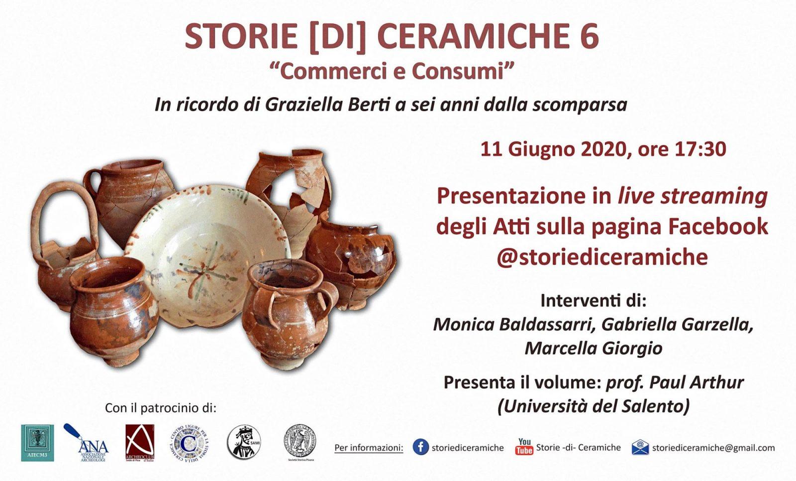 Storie [di] Ceramiche 6. Commerci e Consumi, presentazione.