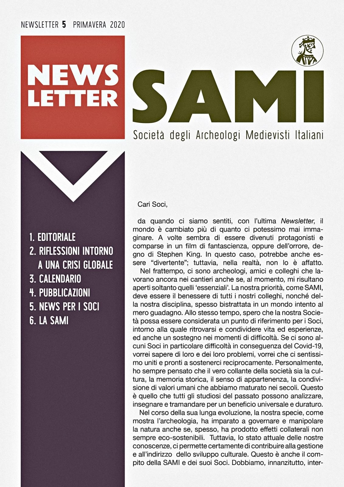 SAMI, Newsletter, primavera 2020.