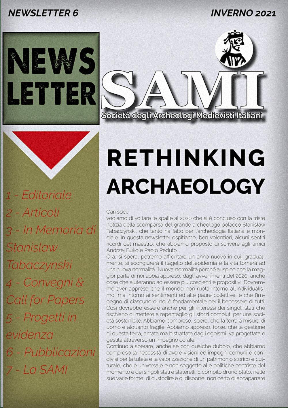 SAMI Newsletter - Febbraio 2021, immagine.