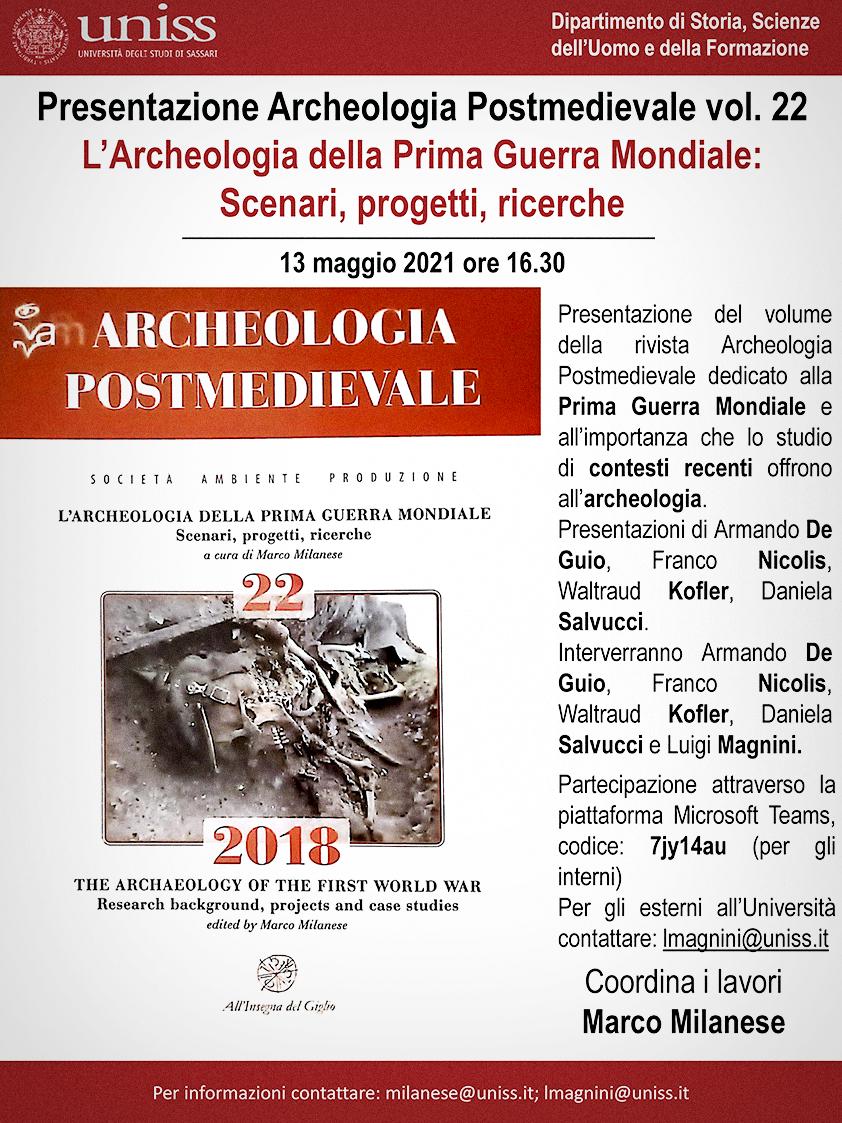 APM 22, presentazione, maggio 2021, locandina.