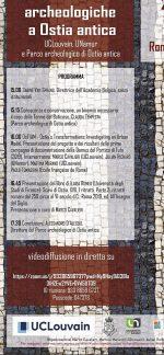 Presentazione, Ostia Antica, 2021, locandina.