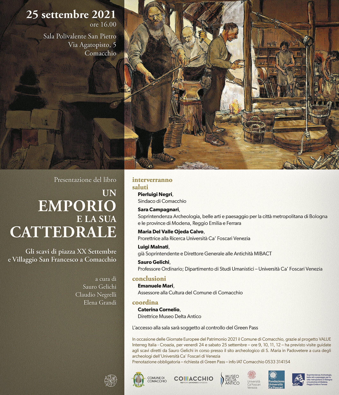 Comacchio, invito presentazione, 2021.